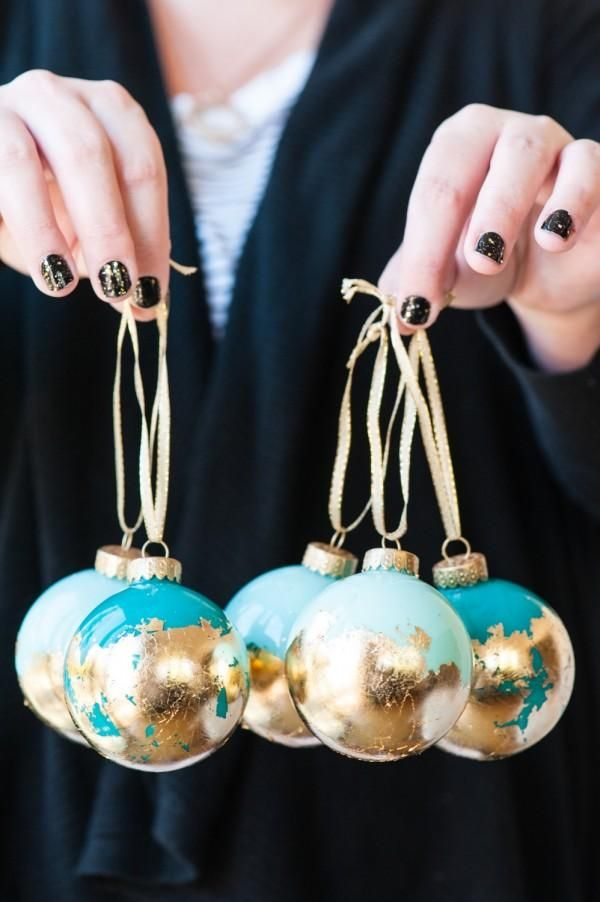 Learn how to transform plain. clear glass ornaments into glimmering, gold-touched treasures. christmas