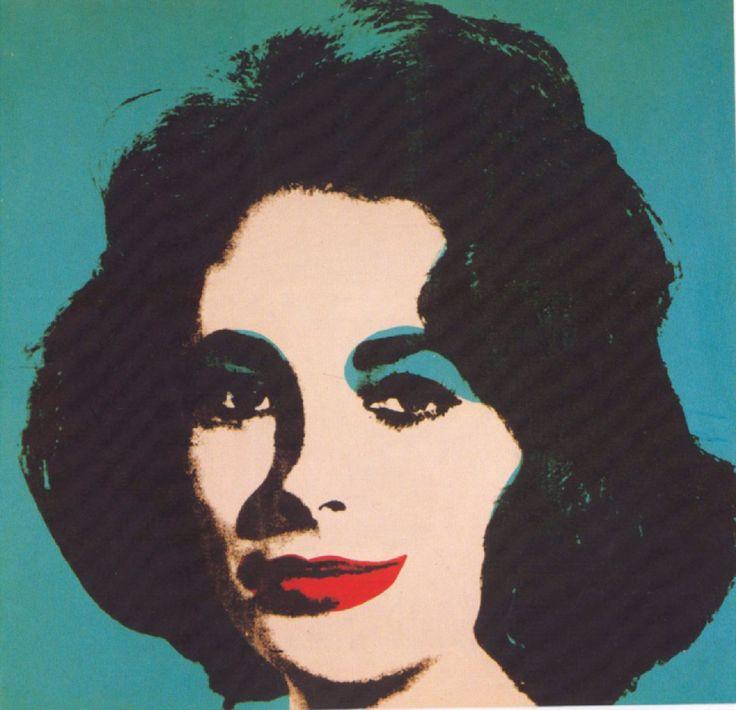 Andy Warhol Pop Art Paintings | Andy Warhol Elizabeth Taylor Version 2 Pop Art Oil Painting Hand ...