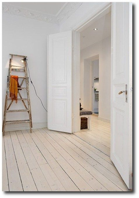 Beautiful Planked Wood Floors WhiteWashed, Keywords, Wood Flooring DIY, Inexpensive Wood Flooring, Plank Wood Flooring, Plywood Wood Flooring, Swedish Decorating, Period Style Flooring,