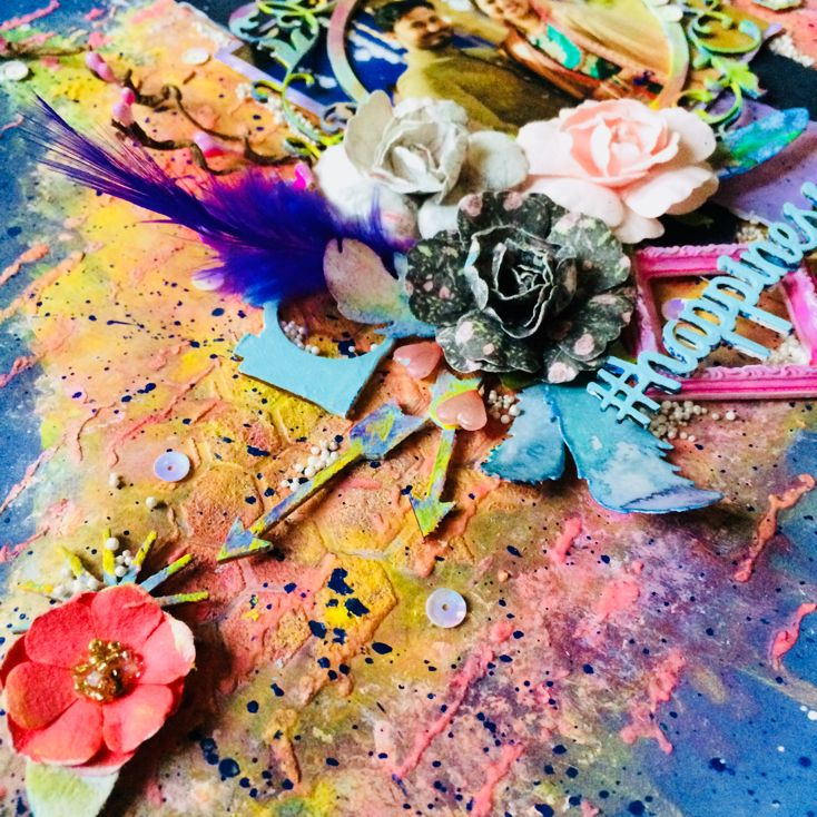 Hello people. I hope you are doung well. I am back on personal blog after a long time with a mixed media layout (after a long time...