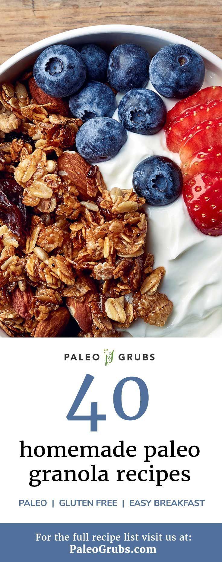 40 Homemade Paleo Granola Recipes for an Easy Breakfast