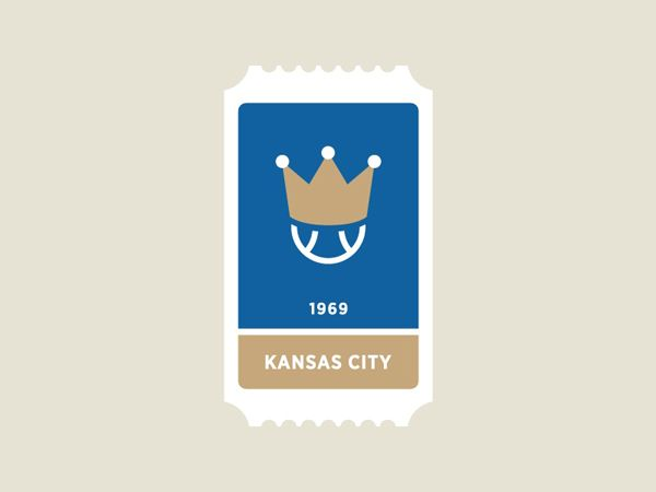 Kansas City Royals MLB Ticket. MLB Team Tickets by Jon Ringger. #graphicdesign