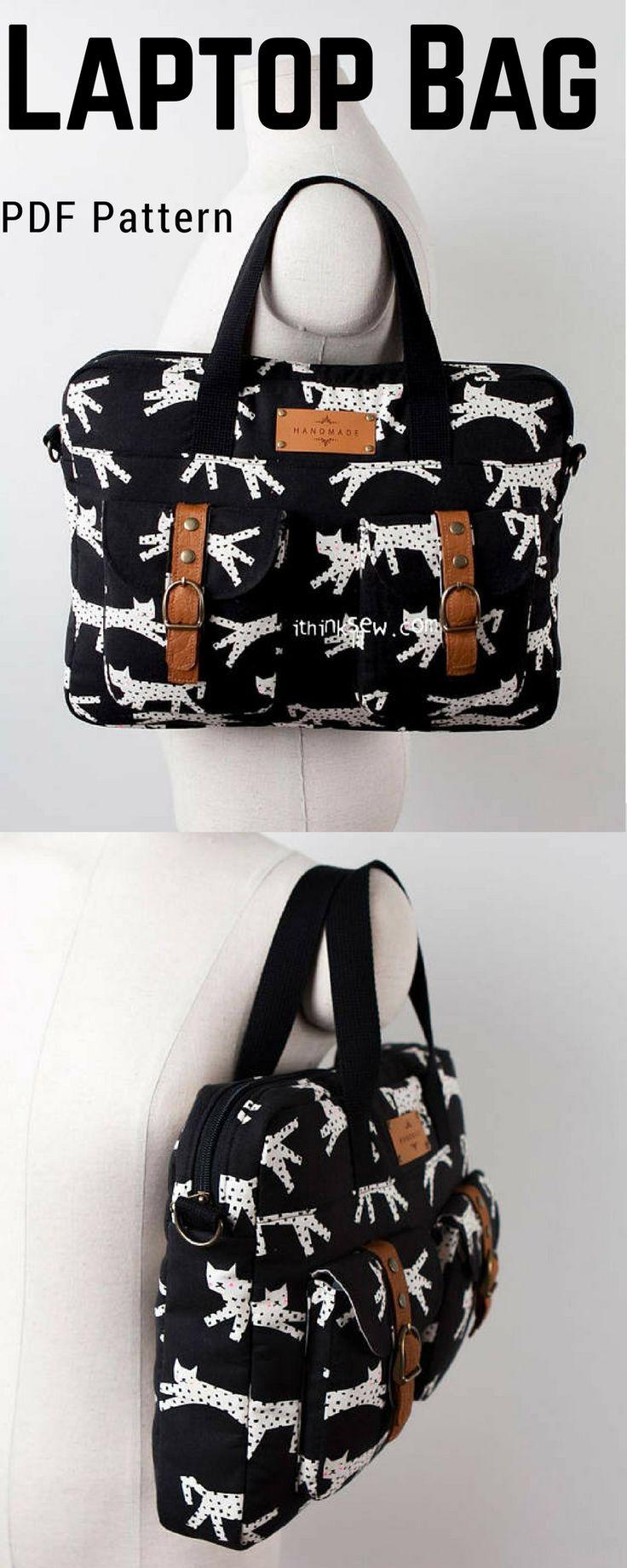 1296 Judith Laptop Bag PDF Pattern #laptopbag #laptopbagpattern #ad