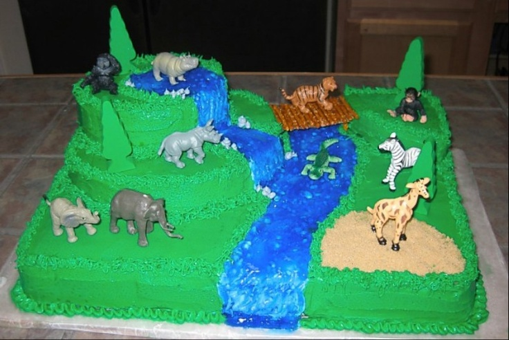 Jungle/safari birthday cake - Braden's 5th birthday
