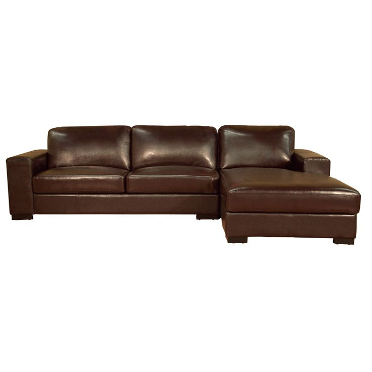525 best images about chaise lounge chairs on pinterest for Brown leather sofa with chaise lounge