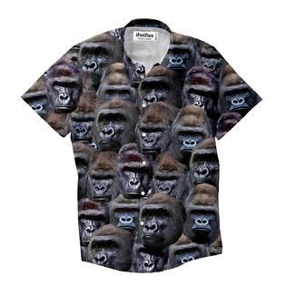 """""""What's better than a dress shirtwith one beautiful gorilla on it? """""""