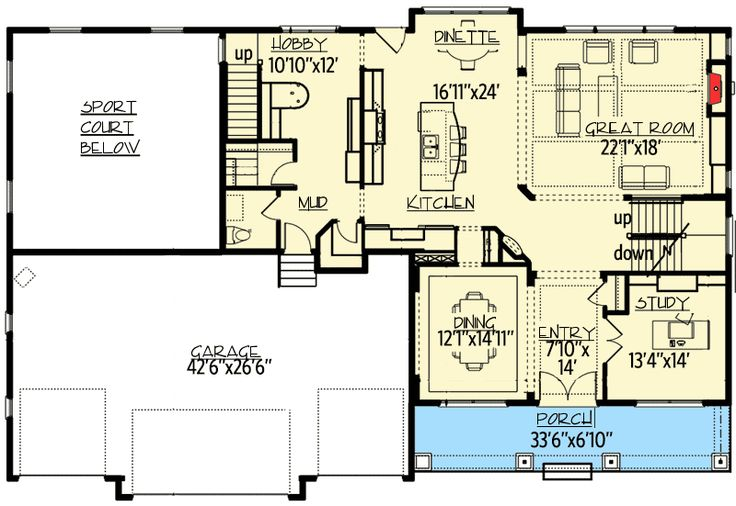 Plan 73347HS: House Plan For Game And Sports Lovers
