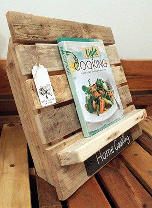 Cook Book Stand / holder. Valentines gift idea by ReclaimedInWood
