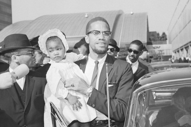 Malcolm X and daughter, Qubilah Shabazz