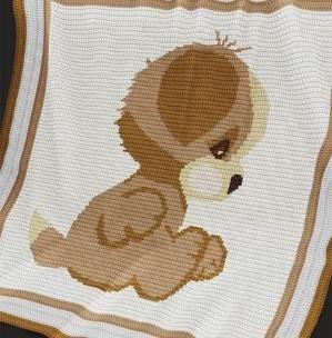 Crochet Pattern | Baby Blanket / Afghan - Puppy by susanne.habermann.5