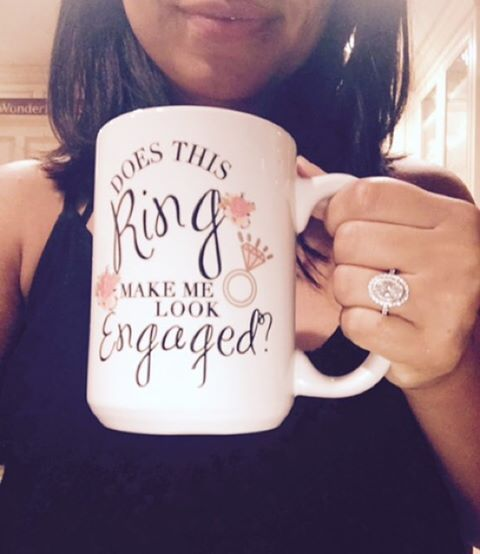 And for all of you gorgeous and newly #engaged brides to be, you can order the @lacedinweddings #engagement mug in the link up above. ☝️☝☝☝☝☕️☕️☕️ this gorgeous mug was a surprise for @littleespi...