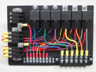 6 relay panel with relays in sockets