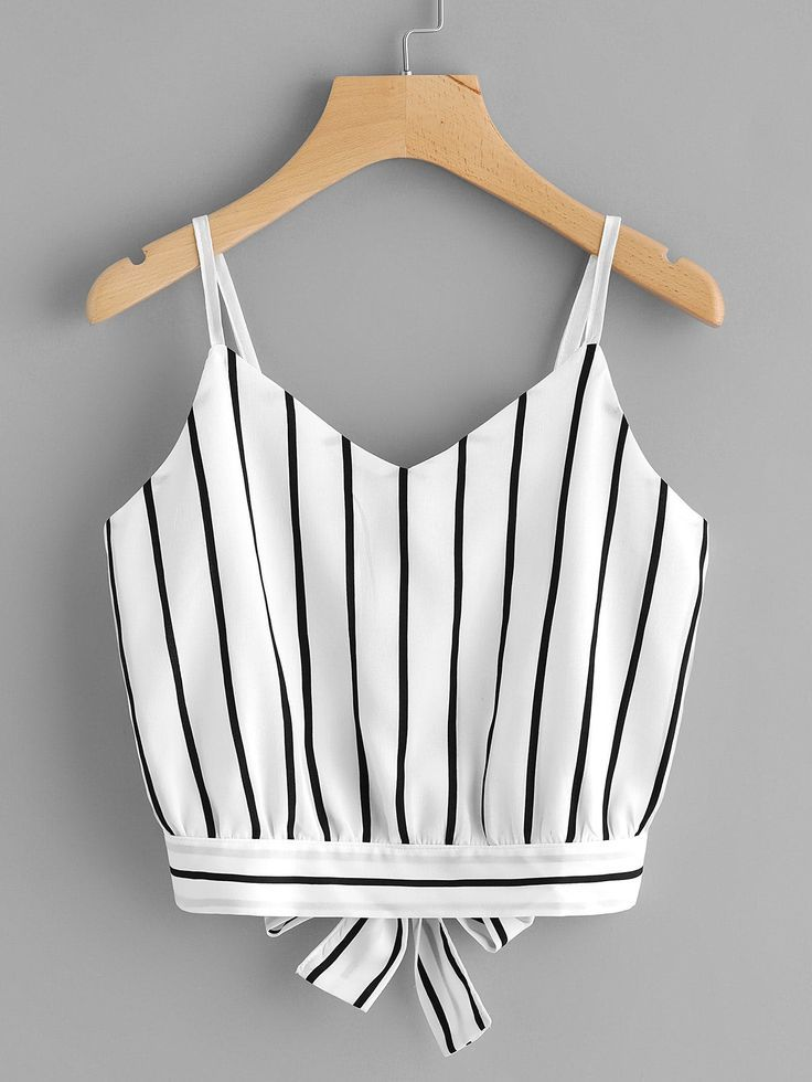 Crop Top rayado blanco y negro