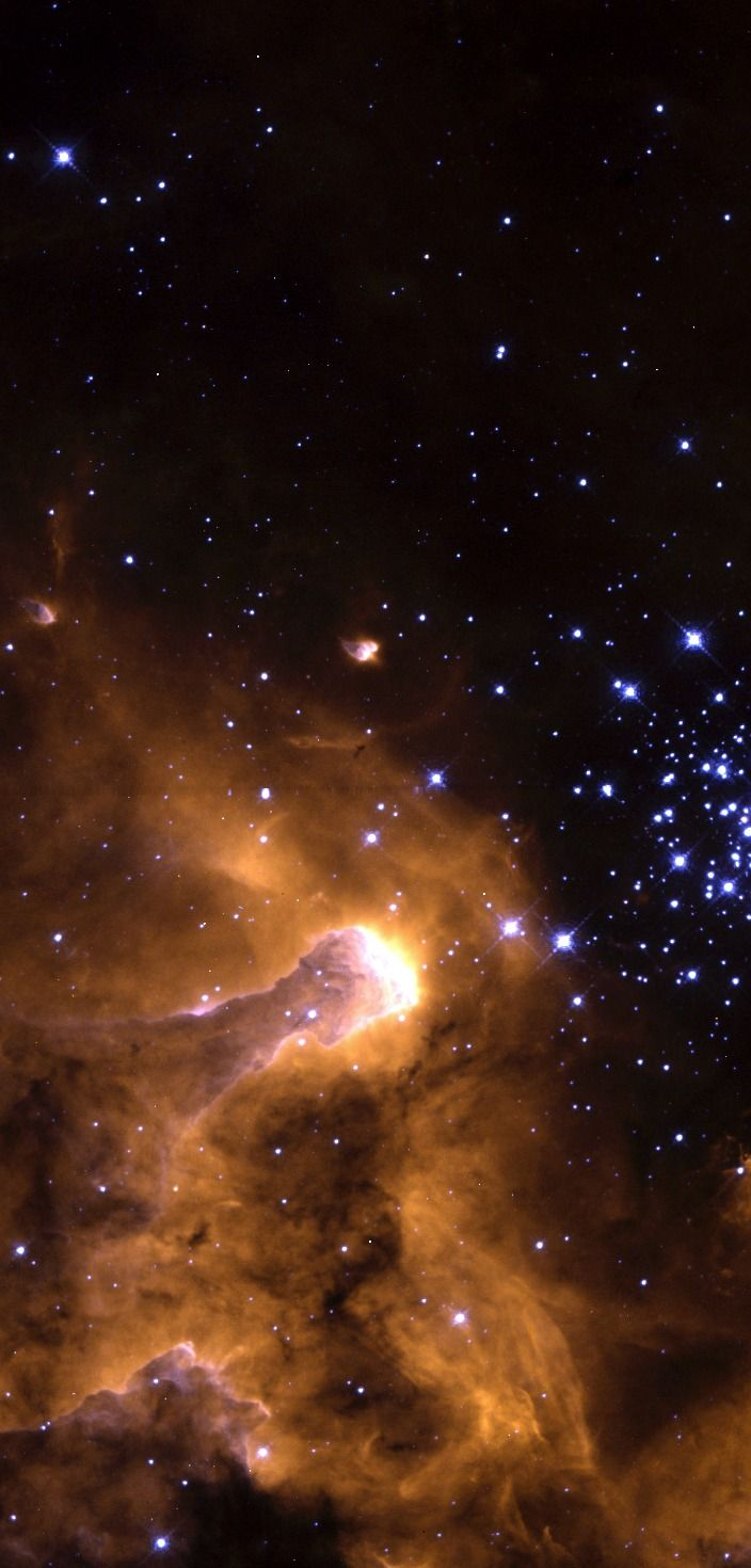 Various Angles of Nebula NGC 3603 In this stunning picture of the giant galactic nebula NGC 3603, the crisp resolution of NASA's Hubble Space Telescope captures various stages of the life cycle of stars in one single view.