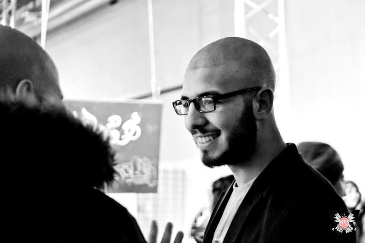 L'artiste photographe Boho lors du vernissage de l'exposition INK EYE