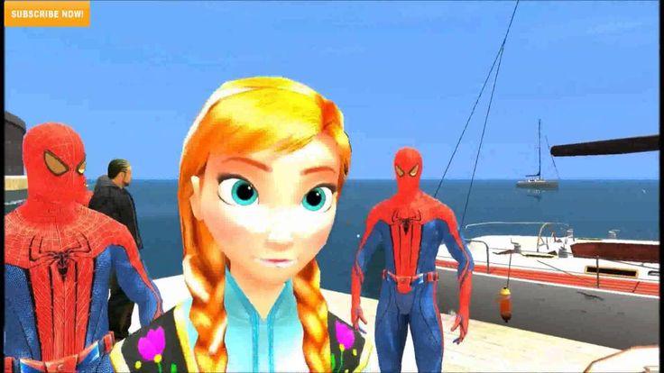Frozen Anna and Spiderman Yacht Tour! Disney Princess with Children Nurs...