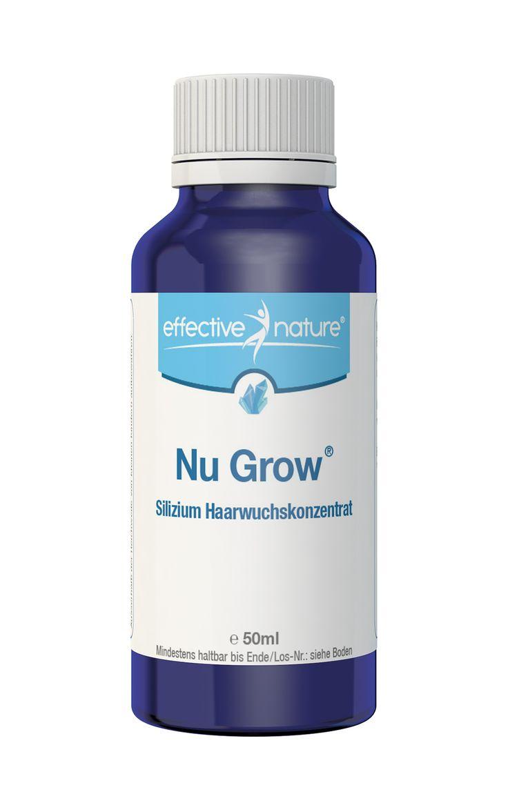 Haarwuchskonzentrat mit natürlichen Inhaltsstoffen Das Nu Grow Silizium Haarwuchskonzentrat ist eine hochwirksame und vollkommen natürliche Kombination aus Silizium – das den Haarwuchs fördert – sowie speziellen Heilpflanzen, die sich besonders positiv auf die Haar- und Kopfhautgesundheit auswirken.