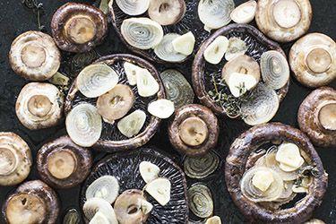 Roast mushrooms