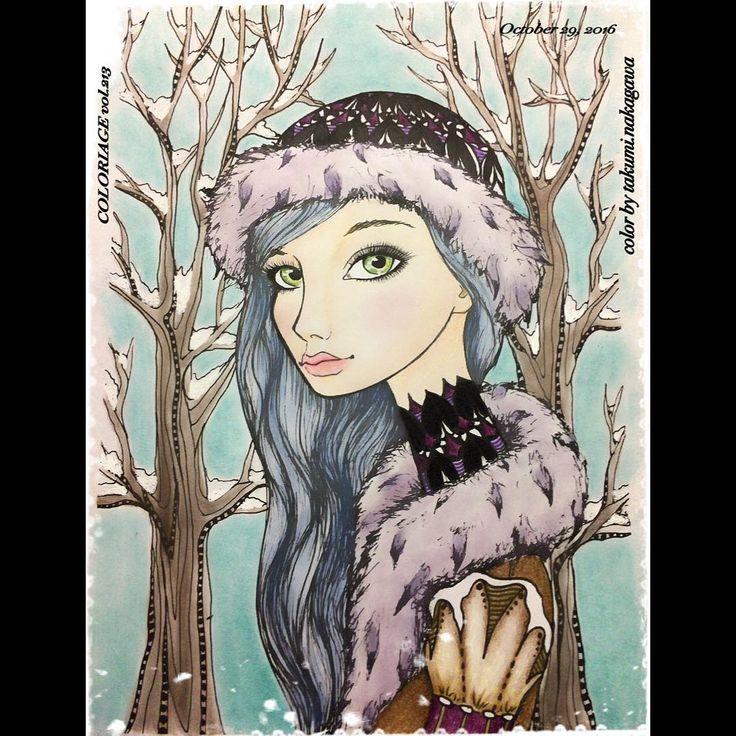 #winterrose #inklings #tanyabond 。 夏の塗り絵交換の際に、フォロワー様から頂いて、冬になったら、塗ろうと思ってた絵です😌 今晩は、寒いので、皆さん風邪ひかないように♥️ 。 久しぶりにアイシャドウ・パステル・ファンデーション・チークの粉もんメインで塗りました😊 やっぱり、速い👍 。 雪→白ペン signo 色鉛筆 カリスマカラー フルブレンダー 黒ペン 。 #コロリアージュ #大人の塗り絵 #おとなのぬりえ #ハロウィンに敢えてノーマルメイク😌 #coloriage #coloringbook #adultcoloring #