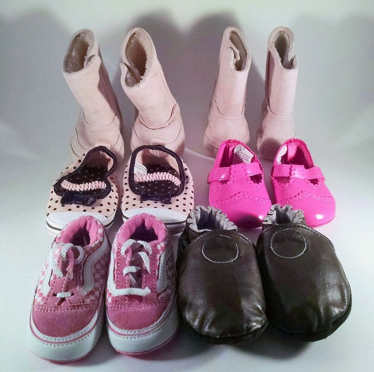Infant Baby Girls Lot 6 Pairs Shoes Size 1-2 Vans Boots Gymboree Toddler