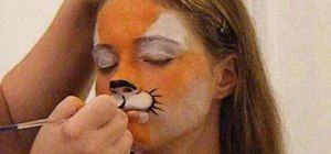 How to Do tiger face paint in two minutes « Kids Activities