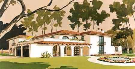 Spanish Colonial House Plans Architectural Design S Plan