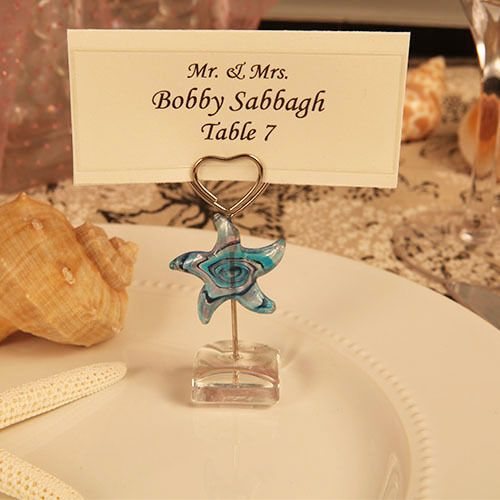 star design arte murano place card holder wedding