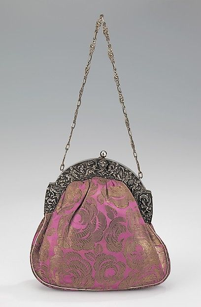 Evening purse | French | 1920-1929 | silk, metal, leather | Brooklyn Museum Costume Collection at The Metropolitan Museum of Art | Accession #: 2009.300.2045a-c
