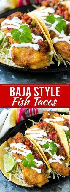 Baja Fish Tacos Recipe   Fried Fish Tacos   Crispy Fish Tacos   Easy Fish Tacos Recipe