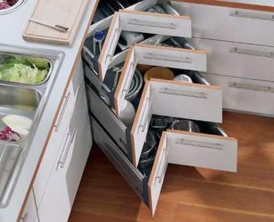 cajones esquineros para cocinas pequenas: Lazy Susan, Kitchens Design, Small Kitchens, Google Search, Corner Drawers, Corner Storage, Corner Cabinets, Kitchens Corner, Kitchens Storage