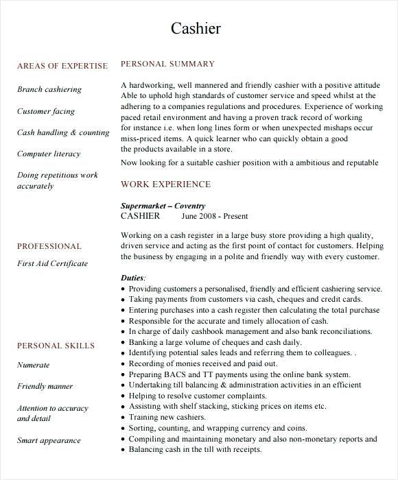 Cashier Resume Sample Cashiers Resume Web Designer Resume Resume Objective