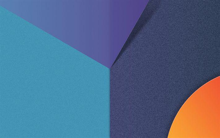 Lataa kuva aallot, linjat, android, geometria, abstrakti materiaali, LG G6