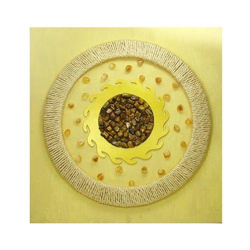 Mandala citrino e olho de tigre - Decoração ‹ Shop dos Cristais