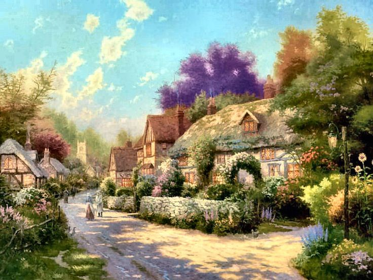 Cobblestone Village by Thomas Kinkade