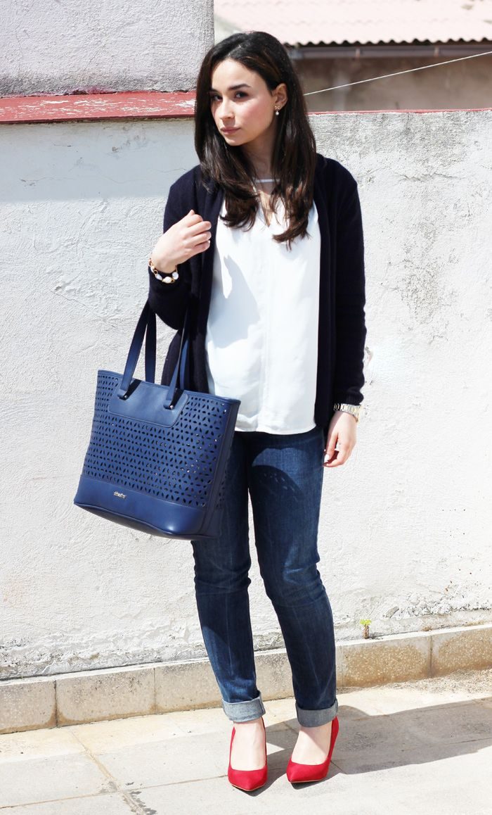 Sparkly Fashion: Red, blue and white