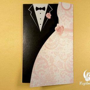 Bride & Groom vágott esküvői meghívó #formavágott #esküvői #meghívó #esküvőimeghívó #cutting #wedding #weddinginvitations #bride #groom #brideandgroom #unique