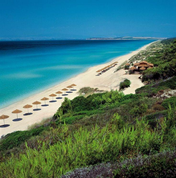 Sani Beach Greece. Quiet beautiful beach resort near Thessaloniki.