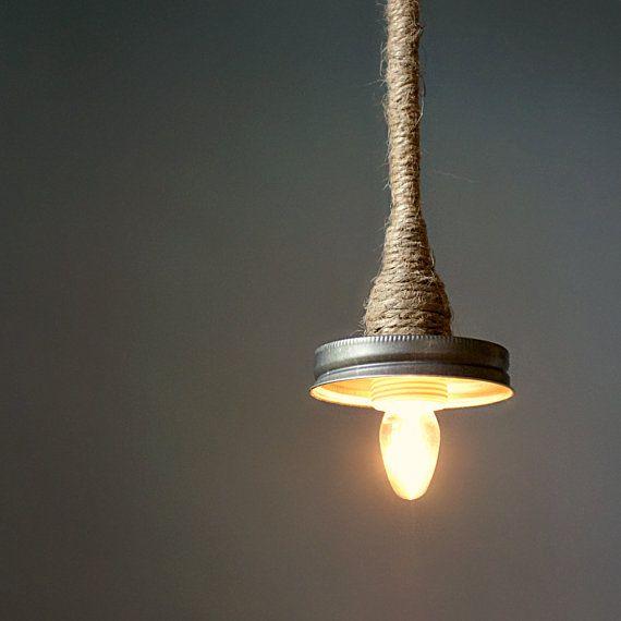 Mason Jar Pendant Lamp Kit Turn Your LITdecor Mason by LITdecor,