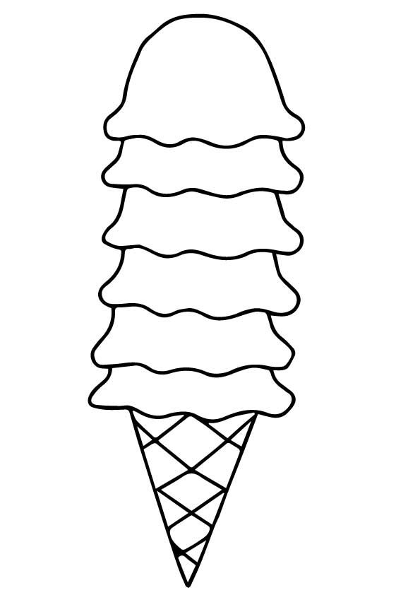 Yummy Ice Cream Ice Cream Coloring Coloring Page Ice Cream Coloring Pages Candy Coloring Pages Free Coloring Pages