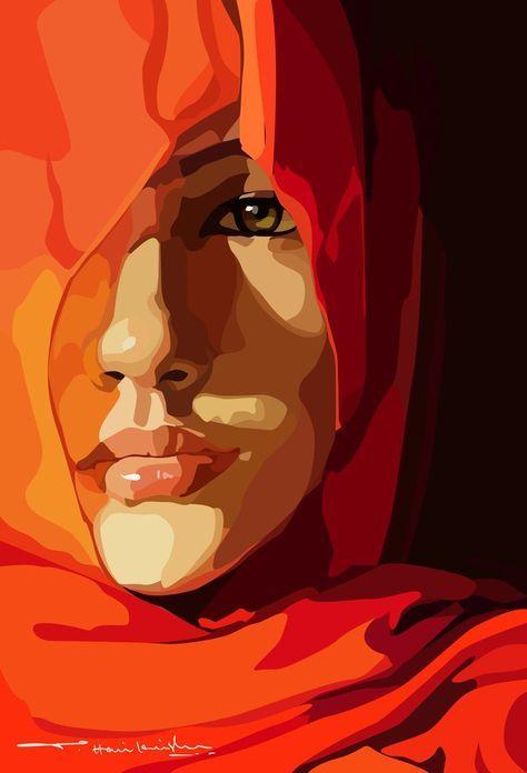 Malen Inspiration Gesicht 41 Ideen