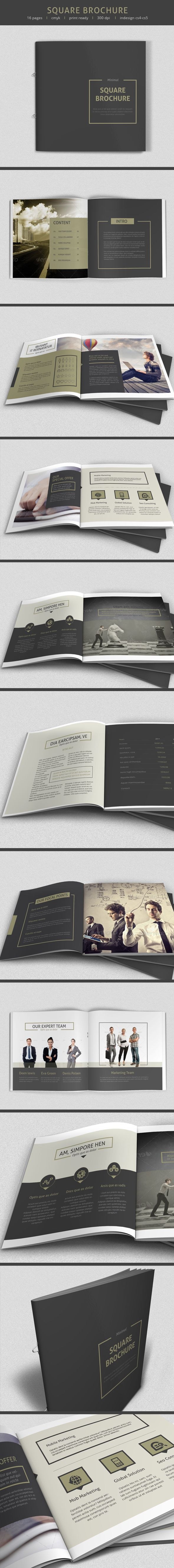 Minimal square Brochure by sz 81, via Behance- I really like the square shape continued throughout the book, it's very contemporary