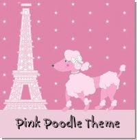 This poodle is a cute Parisian theme for a baby shower where the mama-to-be is expecting a baby girl :)