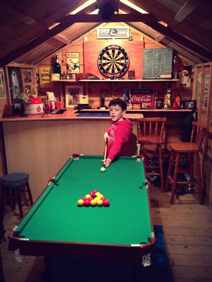 Games In The Shed Bar Built In A 12 X 8 Shed Bar Shed