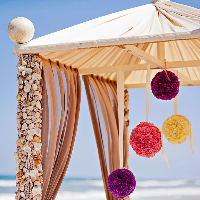 54 best beach theme wedding images on pinterest beach weddings beach destination wedding decor seashell and floral accented arbor junglespirit Images