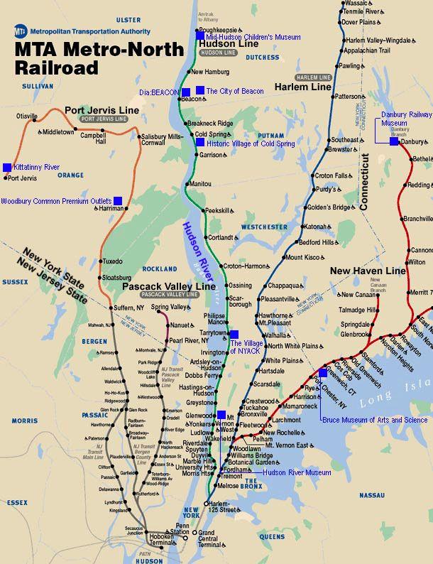 Metro North Railroad Route Map