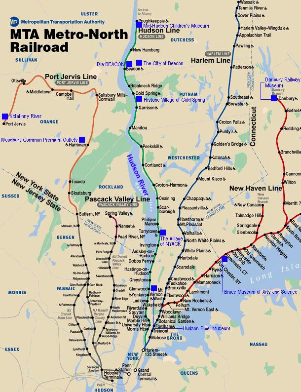 Metro North Railroad Route Map