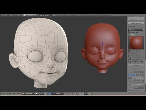 """Character Creation Timelapse Part 1 """"Head modeling"""" - YouTube"""