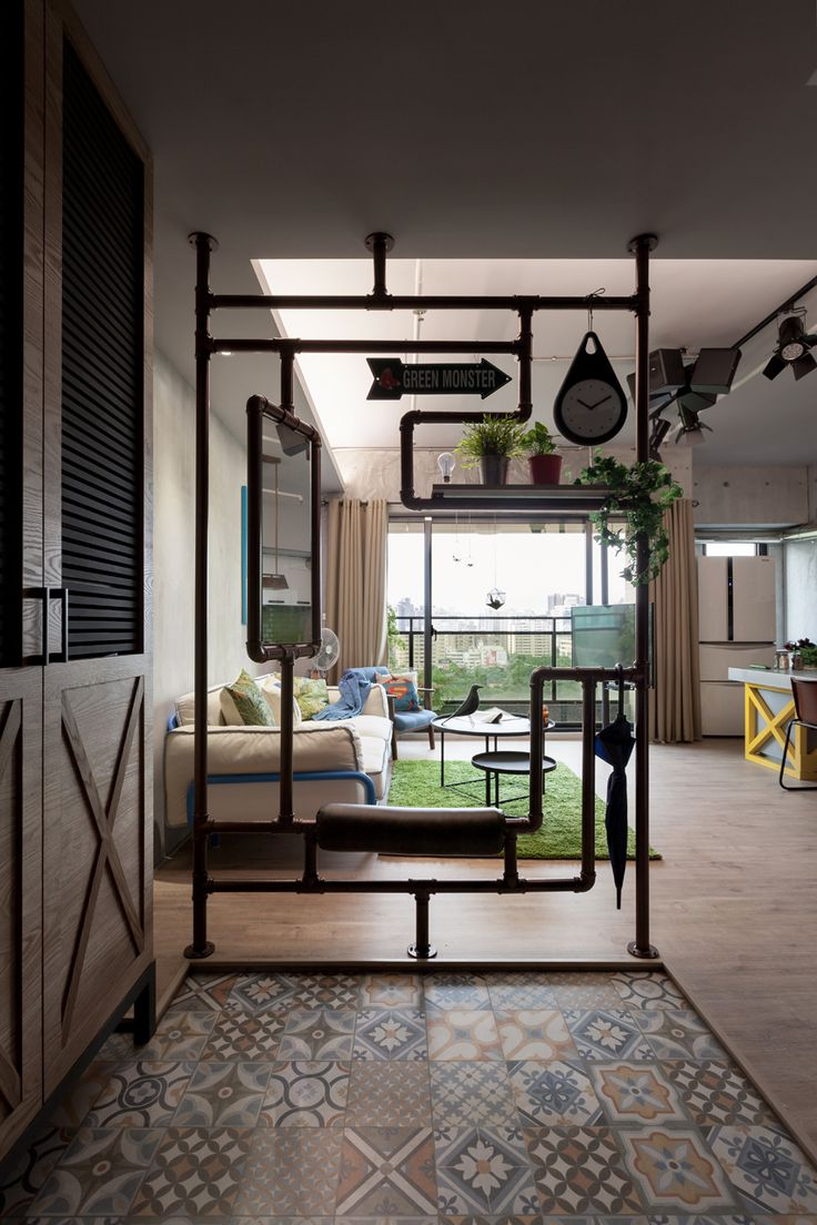 Family-Playground-House-Design-studio-9 - Wall divider for living room...look the detail, cool!
