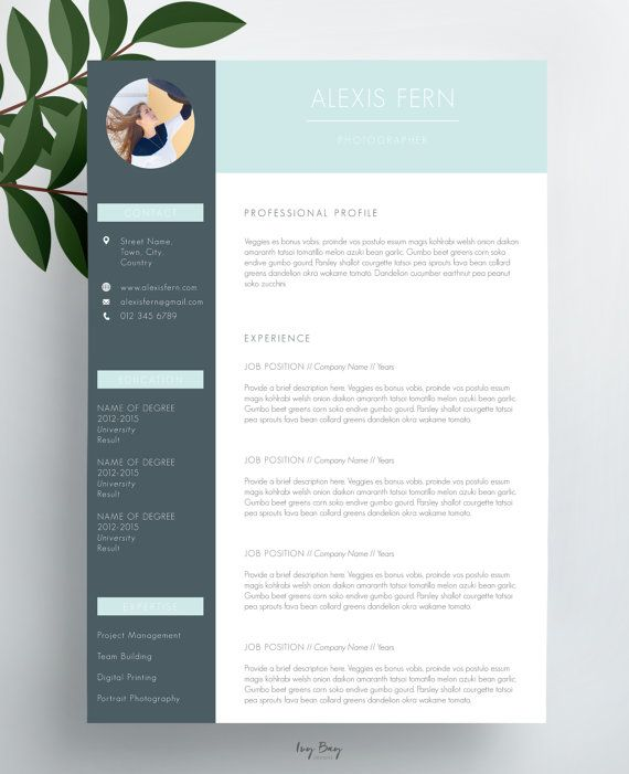 Modern Resume Template, Cover Letter, CV Template, Simple