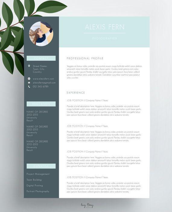 Modern Resume Template Cover Letter Cv Template Simple